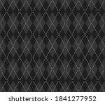 knitted argyle halloween... | Shutterstock .eps vector #1841277952