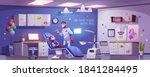 dental room for kids with girl... | Shutterstock .eps vector #1841284495