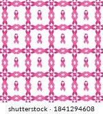 breast cancer awareness pillow...   Shutterstock .eps vector #1841294608