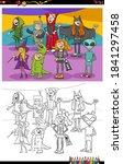 cartoon illustration of funny... | Shutterstock .eps vector #1841297458