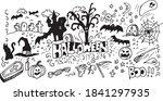 halloween vector doodle hand... | Shutterstock .eps vector #1841297935