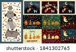 collection of   halloween... | Shutterstock .eps vector #1841302765