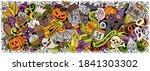 happy halloween hand drawn... | Shutterstock .eps vector #1841303302