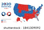 usa map voting. election map... | Shutterstock .eps vector #1841309092
