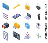password recovery icons set....