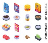 cat food icons set. isometric... | Shutterstock .eps vector #1841333218