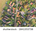 Aerial View Of A Small Village...