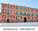 "Small photo of Episcopal Palace on Cardinal Belluga square, Murcia, Spain (inscription ""Cardinal Belluga square"")"
