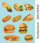 food element | Shutterstock .eps vector #184136942
