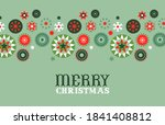 merry christmas greeting card... | Shutterstock .eps vector #1841408812