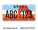 utah license number plate.... | Shutterstock .eps vector #1841427595