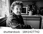 Portrait Of An Old Woman In The ...