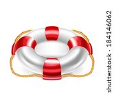 lifebuoy vector illustration... | Shutterstock .eps vector #184146062