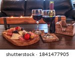 Red Wine With Charcuterie Board ...