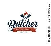 butcher shop hand written...   Shutterstock .eps vector #1841490832