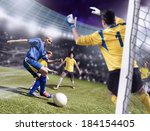 soccer or football players from ... | Shutterstock . vector #184154405