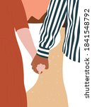 young couple in love ... | Shutterstock .eps vector #1841548792