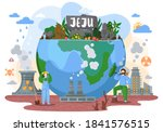 beautiful tropical island with... | Shutterstock .eps vector #1841576515