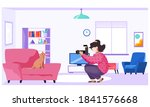 female photographer makes... | Shutterstock .eps vector #1841576668