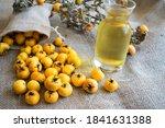 Fresh Hawthorn Fruit And...