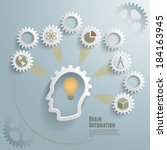 brain automation infographic... | Shutterstock .eps vector #184163945