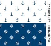 nautical seamless pattern with... | Shutterstock .eps vector #1841685922