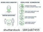 set of coronavirus covid19...   Shutterstock .eps vector #1841687455