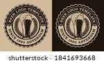 a black and white vintage beer... | Shutterstock .eps vector #1841693668
