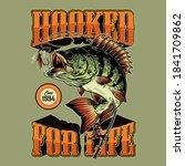 Colorful Fishing Vintage Emblem ...