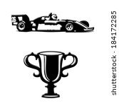 race car and trophy icons | Shutterstock . vector #184172285