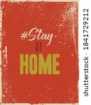 stay at home  poster design... | Shutterstock .eps vector #1841729212