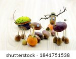 Chestnut Acorns Figure Of A...