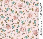seamless cute  flower pattern...   Shutterstock .eps vector #1841762662