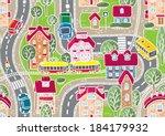 seamless vector background... | Shutterstock .eps vector #184179932