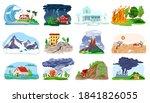 natural disaster  catastrophe... | Shutterstock .eps vector #1841826055