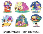 kids imagination  fantasy world ...   Shutterstock .eps vector #1841826058
