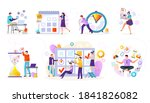 time management flat icons set... | Shutterstock .eps vector #1841826082