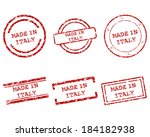 made in italy stamps | Shutterstock .eps vector #184182938