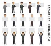 business peoples   isolated on... | Shutterstock .eps vector #184184396