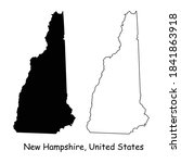 new hampshire nh state maps.... | Shutterstock .eps vector #1841863918