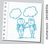 schoolkid talking | Shutterstock .eps vector #184188506