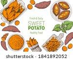 sweet potato illustration.... | Shutterstock .eps vector #1841892052
