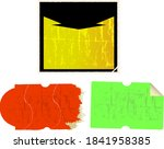 set of empty grungy adhesive... | Shutterstock .eps vector #1841958385