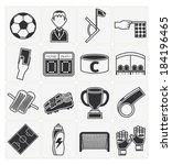 soccer icons set | Shutterstock .eps vector #184196465