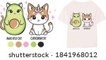 cute print for children's... | Shutterstock .eps vector #1841968012