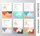 liquid soap label templates...   Shutterstock .eps vector #1841980102