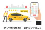 online taxi concept. hand... | Shutterstock . vector #1841994628