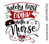 safety first  drink with a... | Shutterstock .eps vector #1841998702