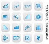 business analysis buttons blue... | Shutterstock .eps vector #184201112