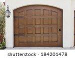 a wooden swinging door to a... | Shutterstock . vector #184201478